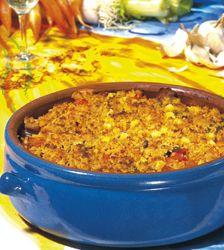 Krokante ovenschotel met Provençaalse saffraansaus
