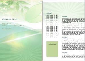 Bid Proposal Template At WordDocumentsCom  Microsoft Templates
