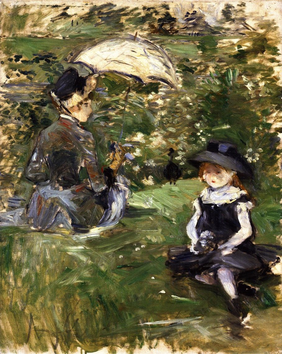 Berthe Morisot 1841 1895 Young Woman And Child On An Isle 1883 Olio Su Tela Maryland State Art Collectio Berthe Morisot Morisot Impressionist Artists