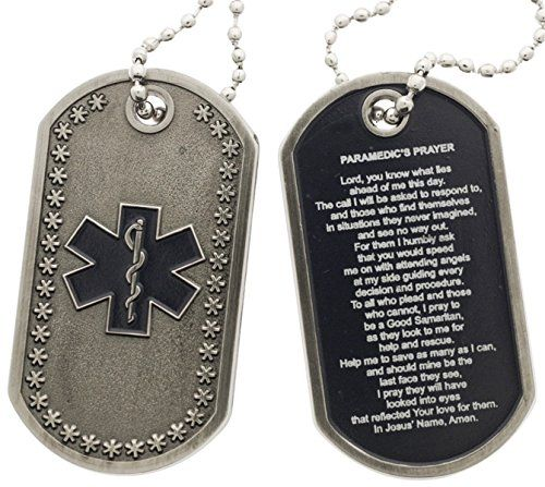 f707aa4d8f1 Paramedic Prayer Star Of Life Dog Tag PoliceTees… | Cool EMS Stuff ...