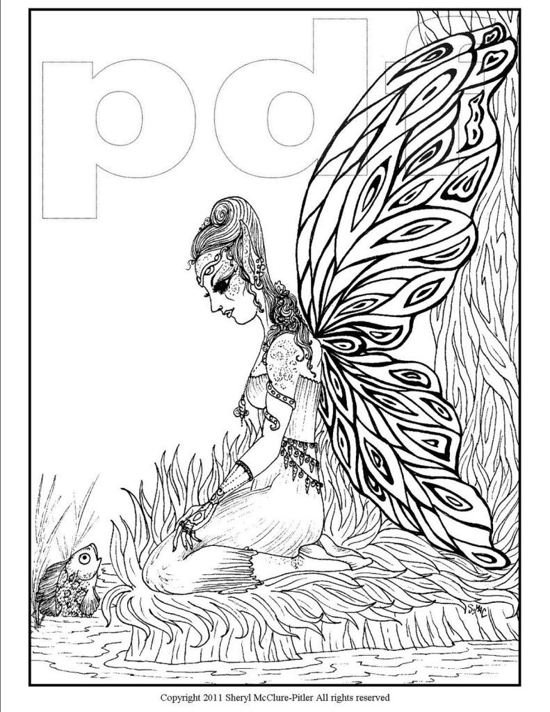 29 Awesome Detailed Fairy Coloring Pages For Adults Images Fairy Coloring Fairy Coloring Pages Cat Coloring Book