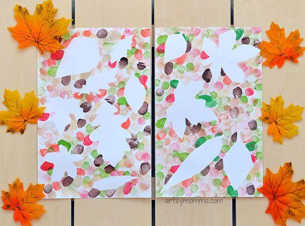 Leaf Art Projects For Kids Using Fingerprints Leaf Crafts