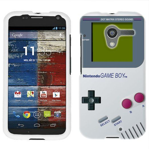 on sale 0326a 6f965 Amazon.com: Motorola Moto X Old School Retro Nintendo Gameboy Phone ...