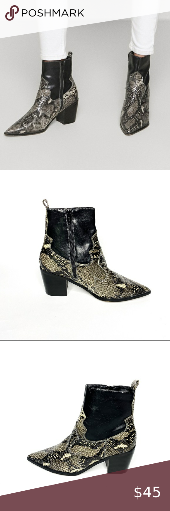Topshop Snakeskin Ankle Boots in 2020