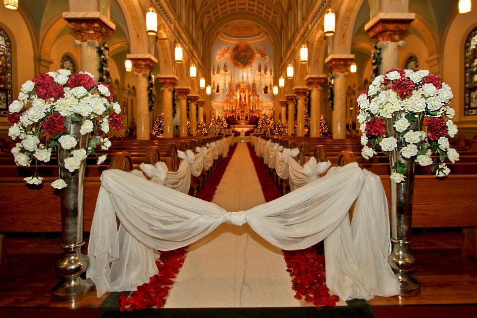 Holiday wedding inside a gorgeous old world catholic church in holiday wedding inside a gorgeous old world catholic church in cleveland junglespirit Image collections