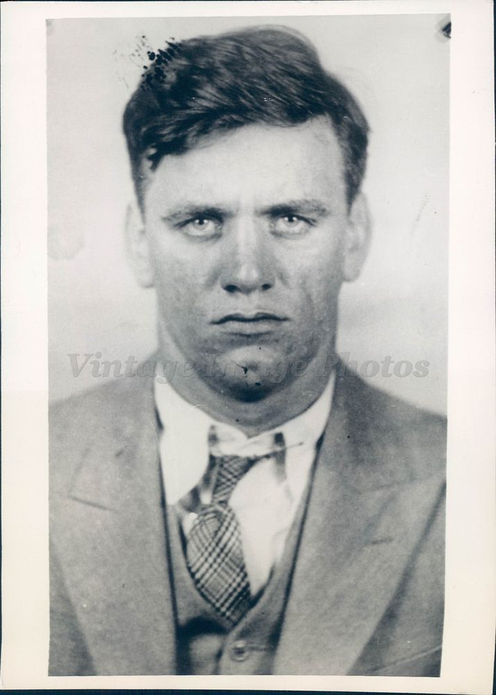 1933 Photo Frank Karlonas Arrest Mackus Murder Charles King Solomon Crime Club