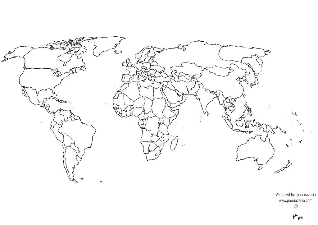 World Map With Country Names Printable New Map Africa Printable Black And White World Map Images World Map Printable World Map Outline World Map Coloring Page