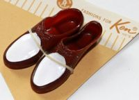 Vintage Ken Casuals Brown & White Shoes