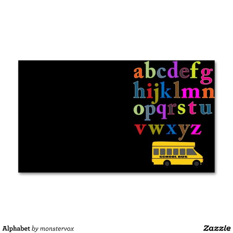 Alphabet Business Card Templates Alphabet Kids BussinessCard - Kid business card template