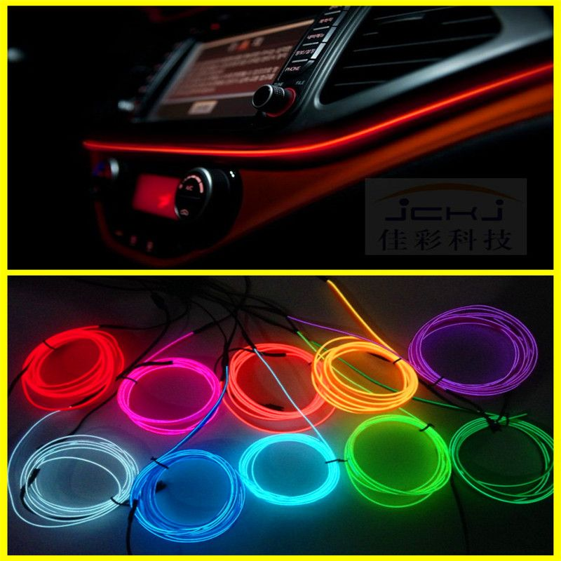Jingxiangfeng 2m Auto Car Interior Led El Wire Rope Tube Line