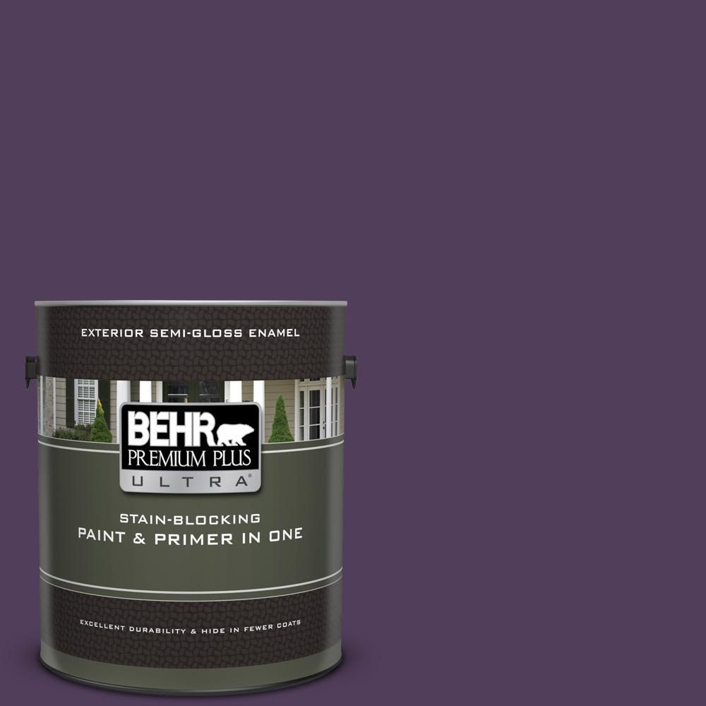S H 670 Plum Purple Semi Gloss Enamel Exterior Paint And Primer In One