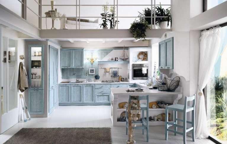 Arredare una cucina al mare - Cucina azzurra