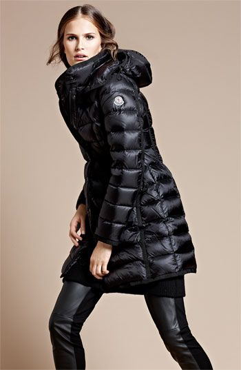 Moncler Hermine Long Down Coat Nordstrom Style