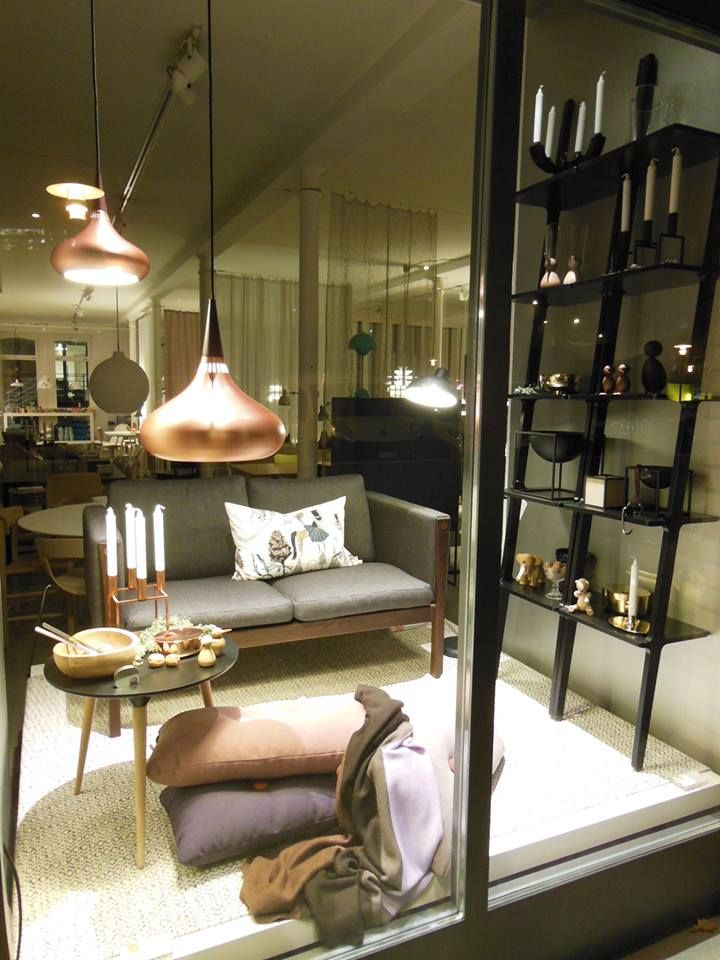 Ch162 Sofa By Hans J Wegner From Carl Hansen Libri Bookcase By Michael Bihain From Swedese Orient Lamp By Jo Hammerborg From Lightyears Ingrid Rug Vardagsrum