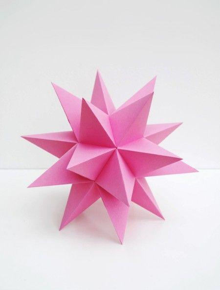 Como hacer estrellas de papel en 3d papel en 3d - Estrellas de papel ...