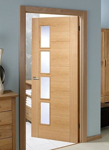 Doors & Magnet Trade - Vancouver Oak 4 Light Offset Pre-glazed | بلا ...