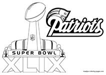 Free Printable Super Bowl Xlix Coloring Pages New England Patriots Colors Super Bowl New England Patriots