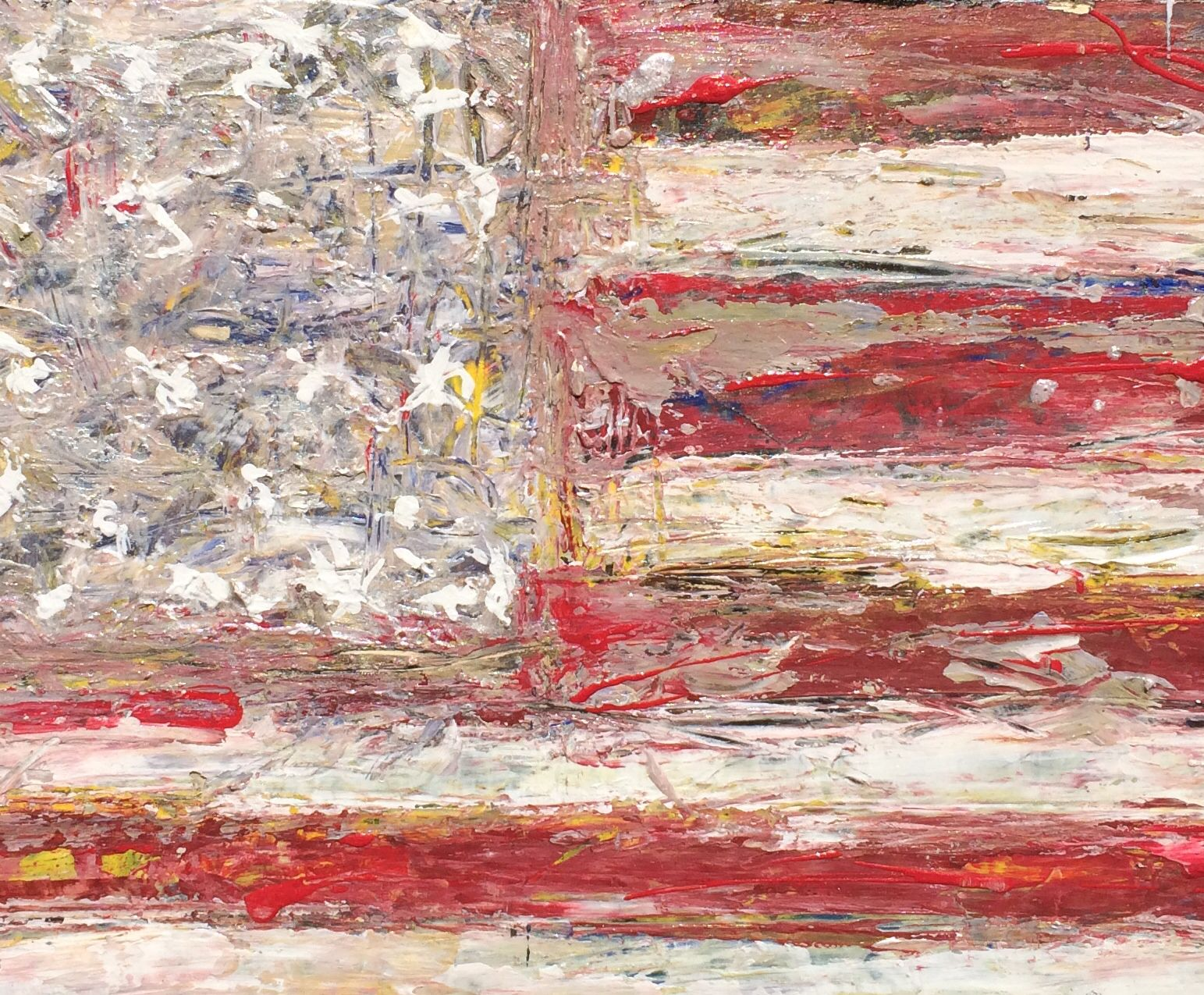 Detail from American Flag painting.