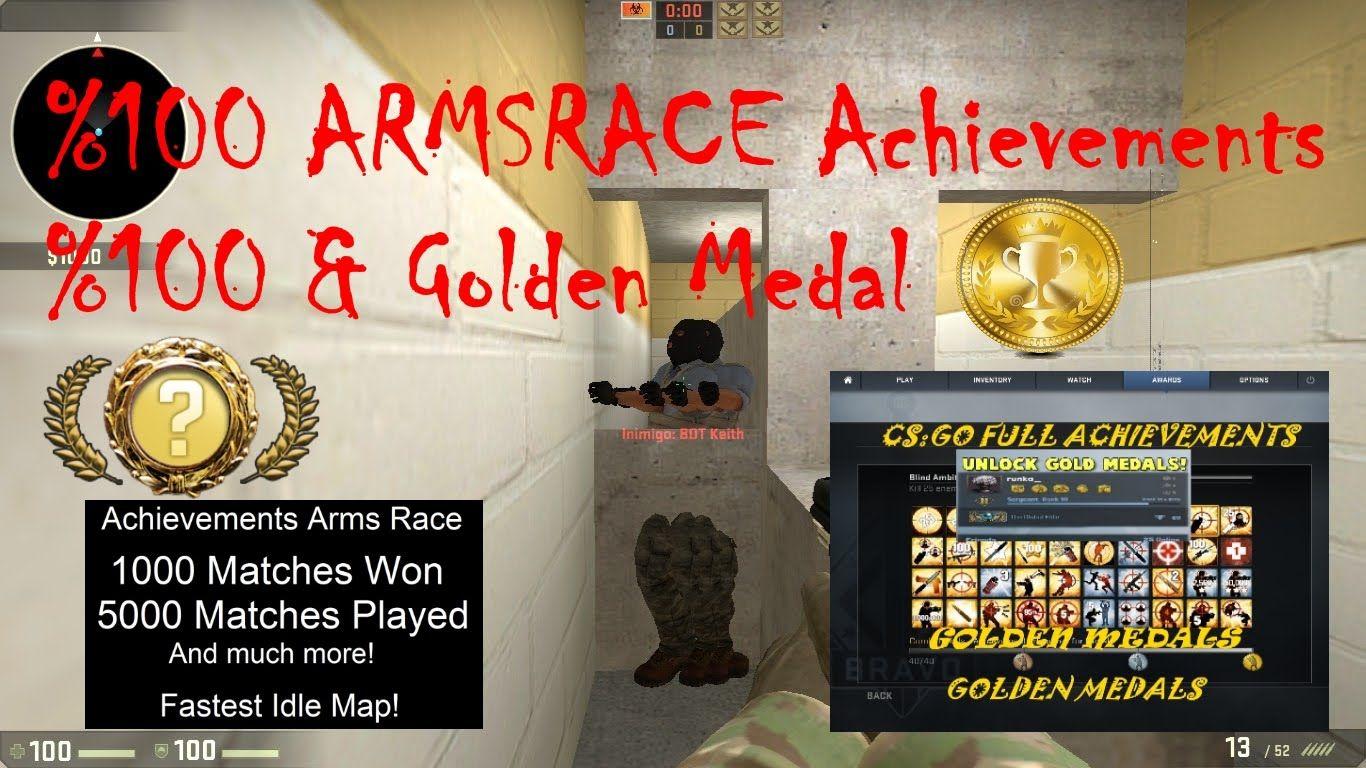 CSGO ArmsRace Achievement %100 Full-Golden Medal-Silah