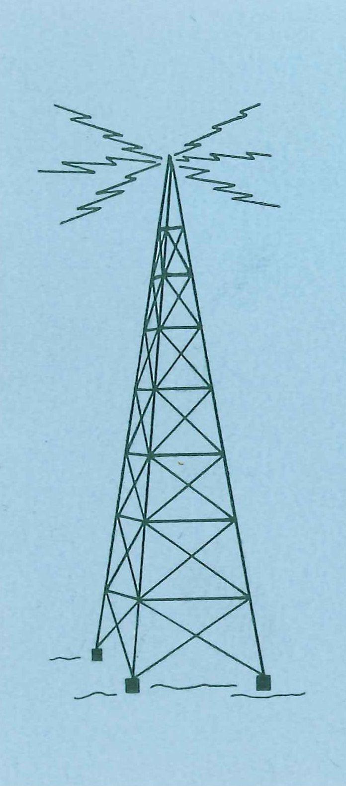 Vintage Radio Tower logo | Vintage Print | Radio design