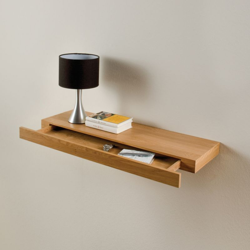 Floating Shelf Kit With Drawer Oak Effect Customer Reviews