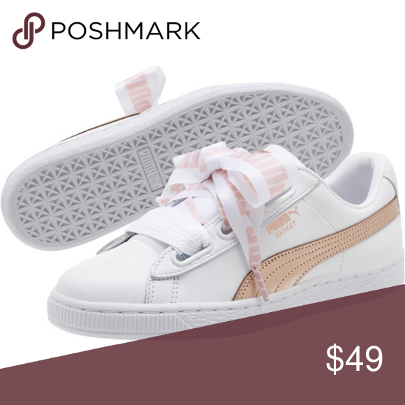 sneakers for cheap 32bf3 343c6 Basket Heart Metallic FS Wns Size: 9.5 women Color: Puma ...