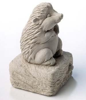 "Hand Cast Stone Harley Hedgehog Animal - Concrete Indoor/Outdoor Garden Sculpture by Creative Structures. $24.95. Unique And Whimsical Works Of Art By George At Carruth Studio. Dimensions: 2"" W x 3.5"" H x 2"" D - Item Weight: 1 Lb. - Made In The USA. Extremely Innovative Creations That Breathe Life And Bring Joy And Whimsy To Your Home Or Garden. Hand Cast Stone, Weatherproof & Waterproof, Handfinished With A Patina Wash To Accentuate The Details. Adorable Sculpture - Pe..."