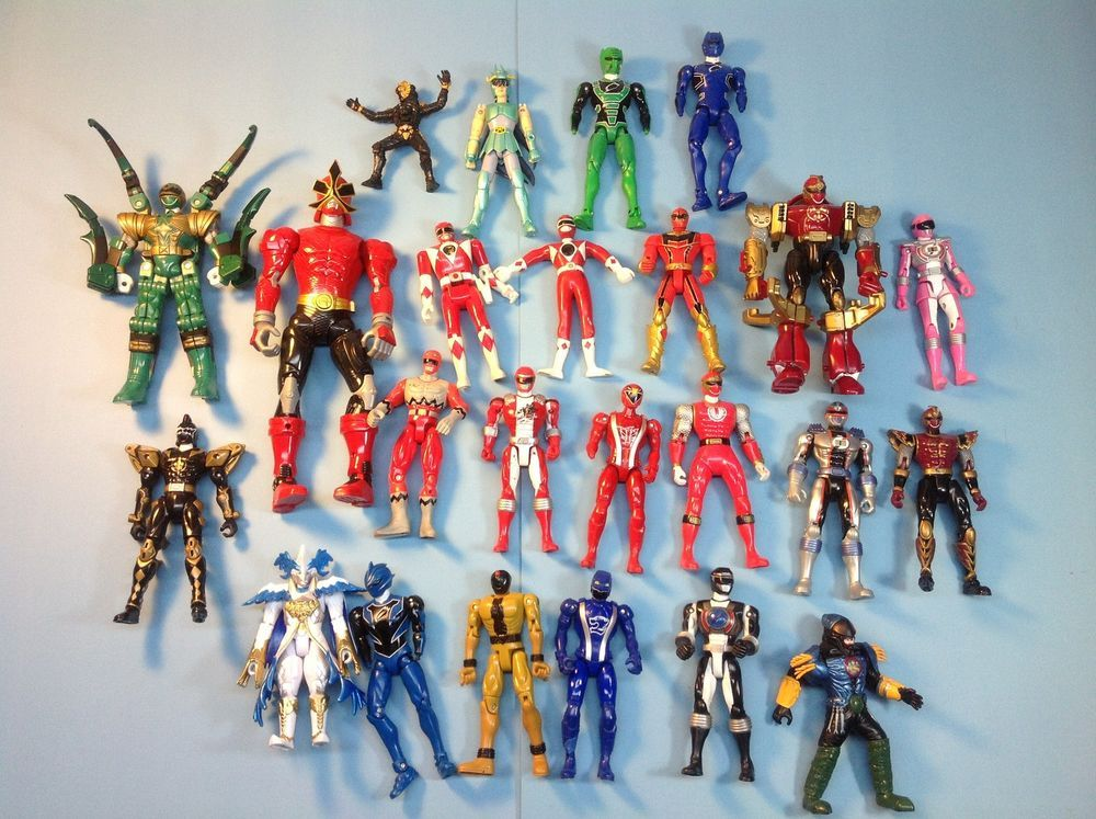 90s mixed lot action figures red ranger power rangers. Black Bedroom Furniture Sets. Home Design Ideas