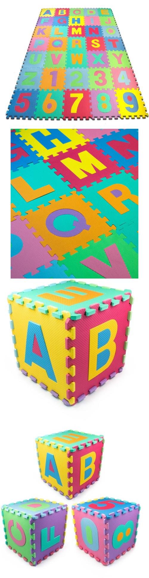 Blocks Tiles and Mats 145931: Matney Foam Floor 36-Piece Alphabet ...