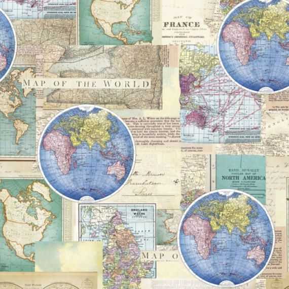 Vintage cartography cotton fabric by the yarddavid textilesfree vintage cartography cotton fabric by the yarddavid textilesfree shipping availablemap fabricworld fabricworld mapvintageyour fleece gumiabroncs Image collections