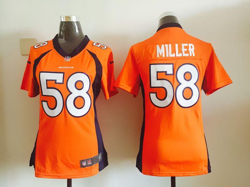 Womens Denver Broncos 58 Von Miller Orange Nike Jerseys  dfb013ca6