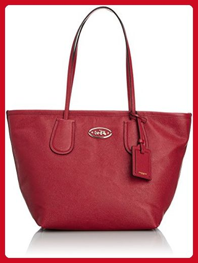 d8b41273ca Coach 33915 Red Current Embossed Leather Large Taxi Tote - Shoulder bags  ( Amazon Partner-Link)