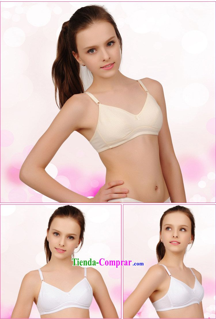 f11e0435425ce Wa Yi kewayi girls can breathable pure cotton bra puberty girls underwear  campaign without steel ring bra 80B colored students select a large number  of ...