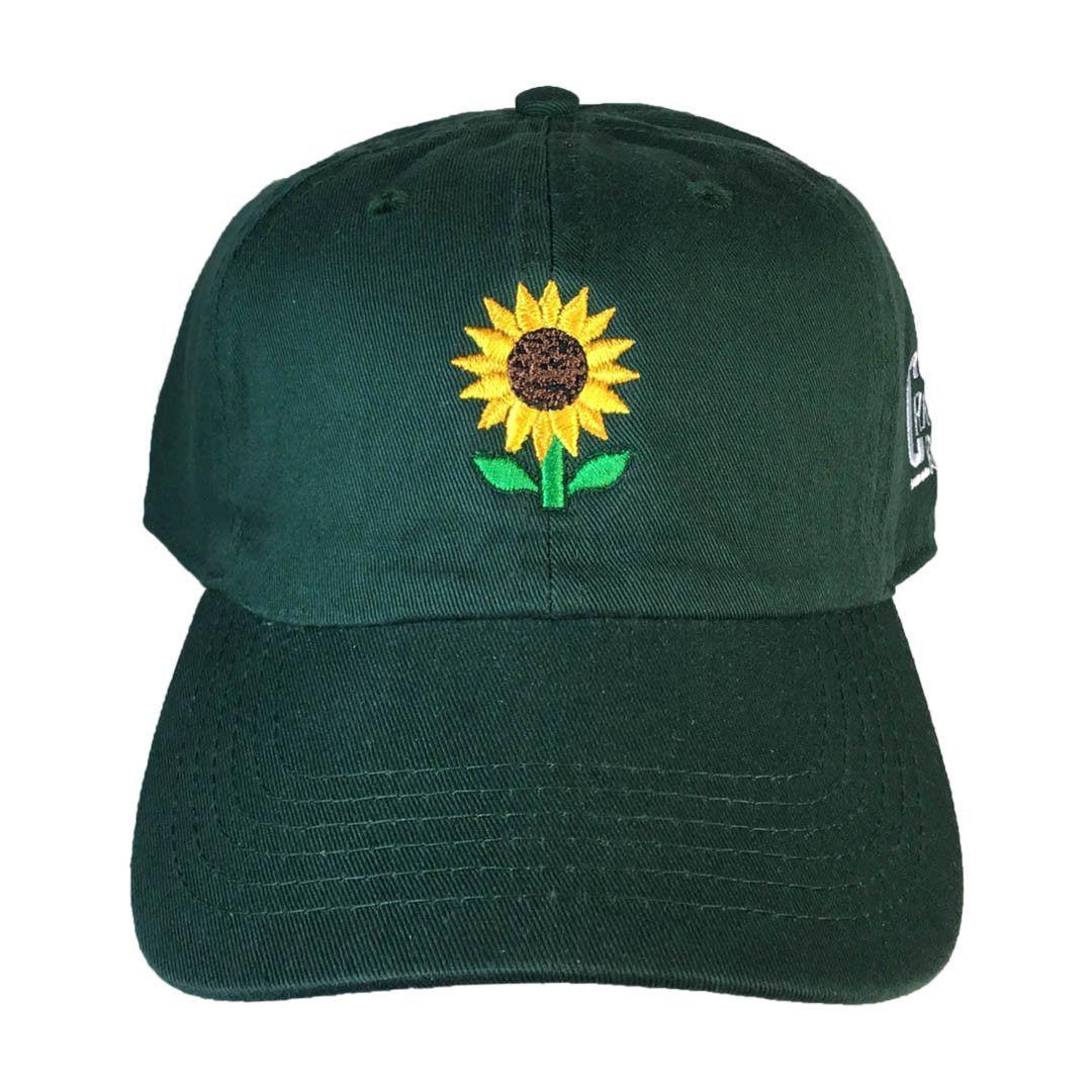 Sunflower Emoji Hat Emoji Hat Hats Green Baseball Cap