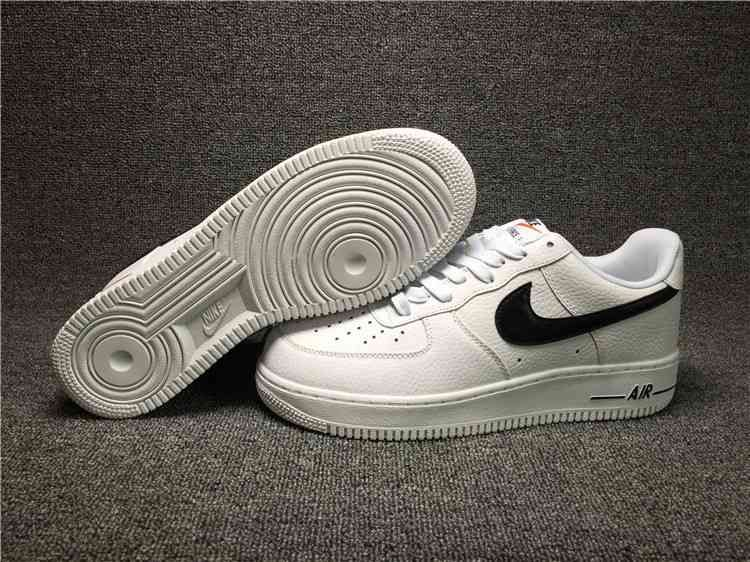 size 40 25035 6b3ee Nike Air Force 1 Low White Black Shoes