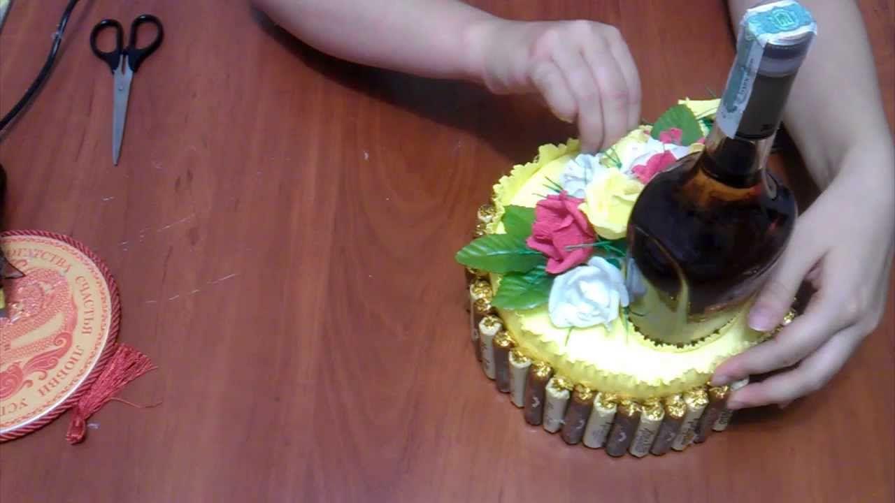 Поделки из коньяка и конфет фото