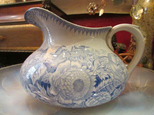 Ancien broc pichet pot faience badonviller tf epoque 19eme for Vasque ancienne en porcelaine