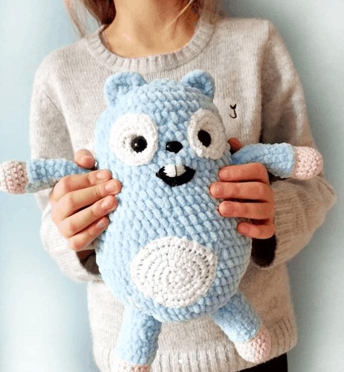Maskotka Leming Z Bajki Grizzy I Lemingi Czarodziejska Chatka Crochet Diy Toys