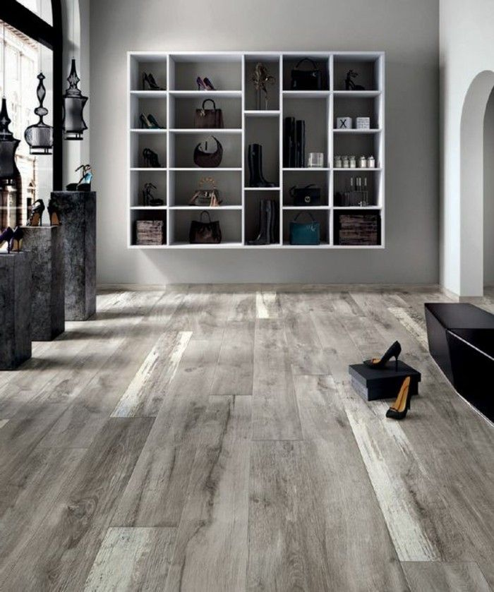 le carrelage aspect bois en 74 photos quels sont ses avantages parquet gris carrelage. Black Bedroom Furniture Sets. Home Design Ideas