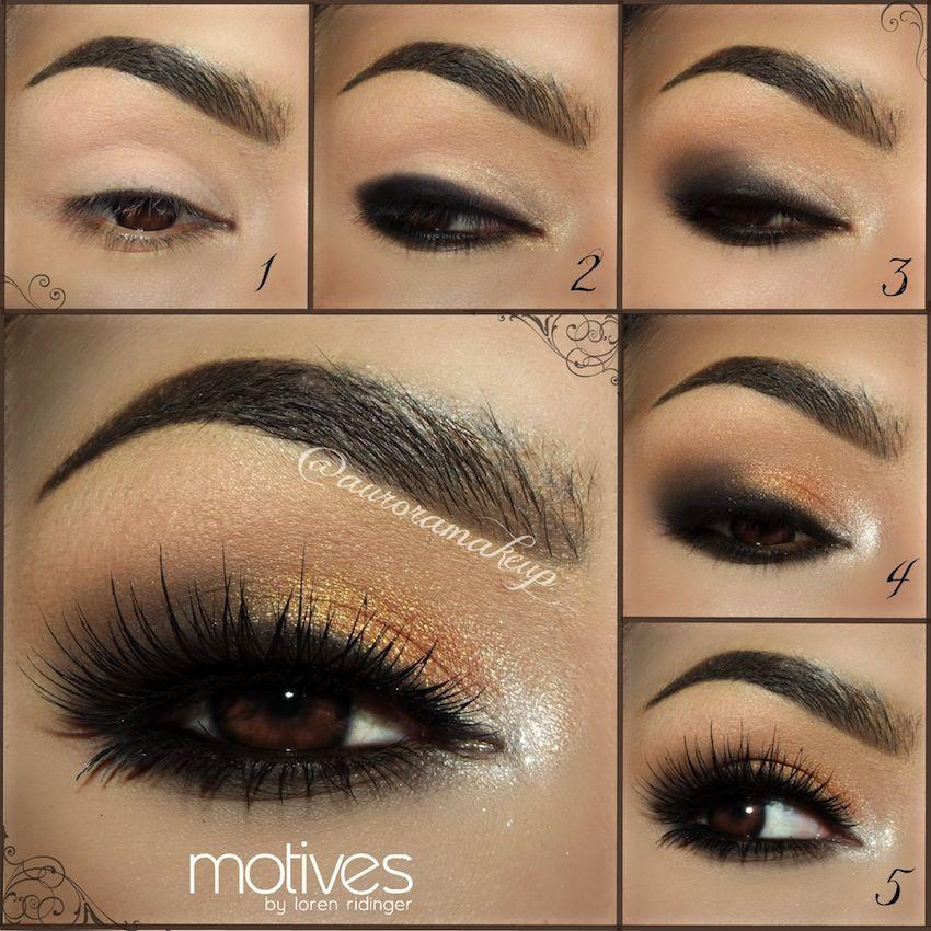 Gorgeous Gold Dust Smoky Eye Tutorial with Aurora Makeup | Smoky ...