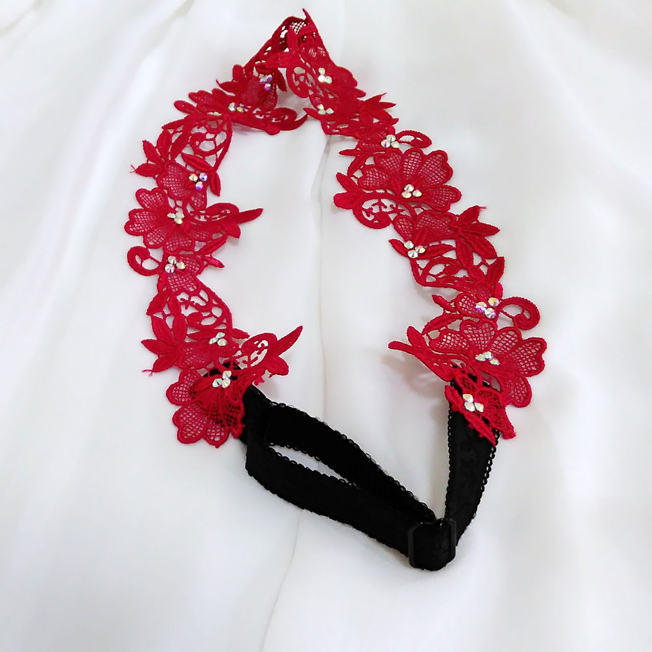 Red flower crown wedding head piece bridesmaid hair piece lace red flower crown wedding head piece bridesmaid hair piece lace bridal headband izmirmasajfo
