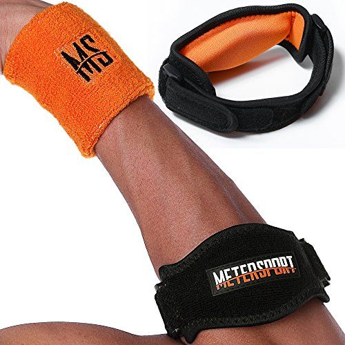 bcba154947 MeterSport Best Tennis Elbow Brace with Compression Pad 2 Count Tennis and Golfers  Elbow Pain Relief Prevents Elbow Tendonitis Provides Tennis Elbow Support  ...