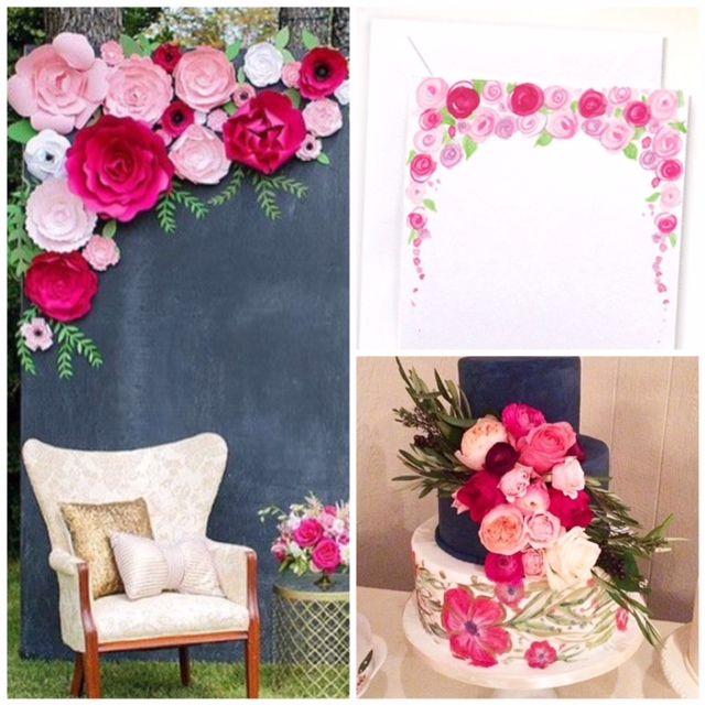 Pink paper flower backdrop by paperflora wedding pros board 2 pink paper flower backdrop by paperflora mightylinksfo