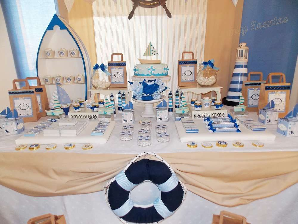 Amazing Dessert Table At A Nautical Birthday Party! See More Party Ideas At  CatchMyParty.