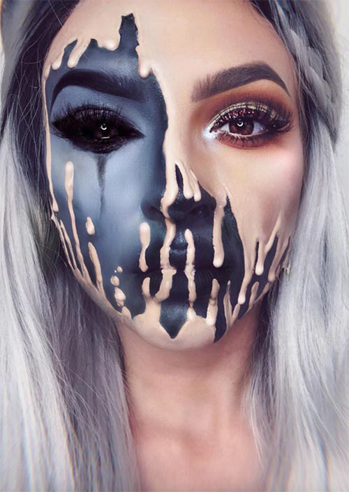 Unique Halloween Makeup Ideas.51 Creepy And Cool Halloween Makeup Ideas To Try In 2021 Glowsly Cool Halloween Makeup Unique Halloween Makeup Halloween Makeup Looks