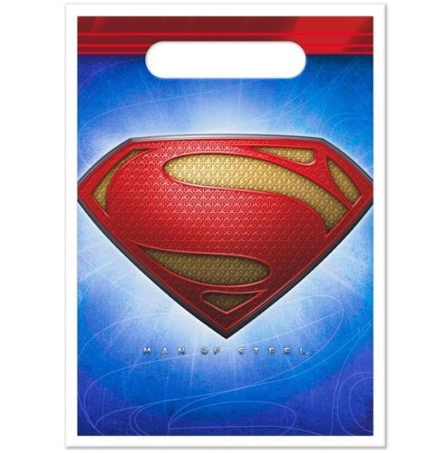 ~ Birthday Party Supplies DC Heroes Favors SUPERMAN MAN OF STEEL BLOWOUTS 8