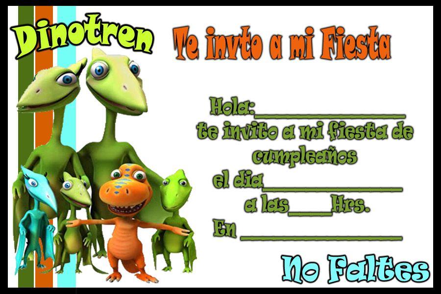 Invitacion De Dinotren Tarjetas De Cumpleaños Para