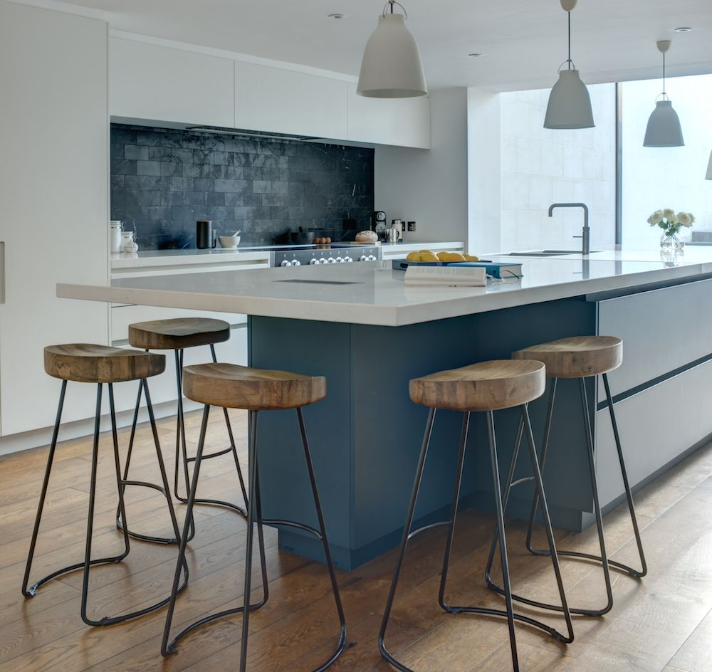 Bespoke Kitchen Design Painting roundhouse. | luxury matt lacquer painted modern colourful bespoke
