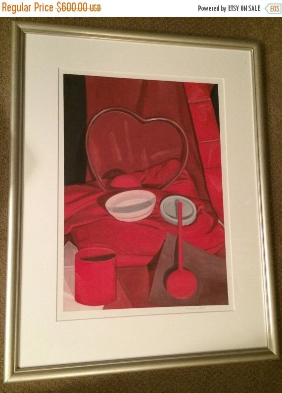 ON SALE Michael Brodeur Oil on Primed Paper Valentine to by USANOW