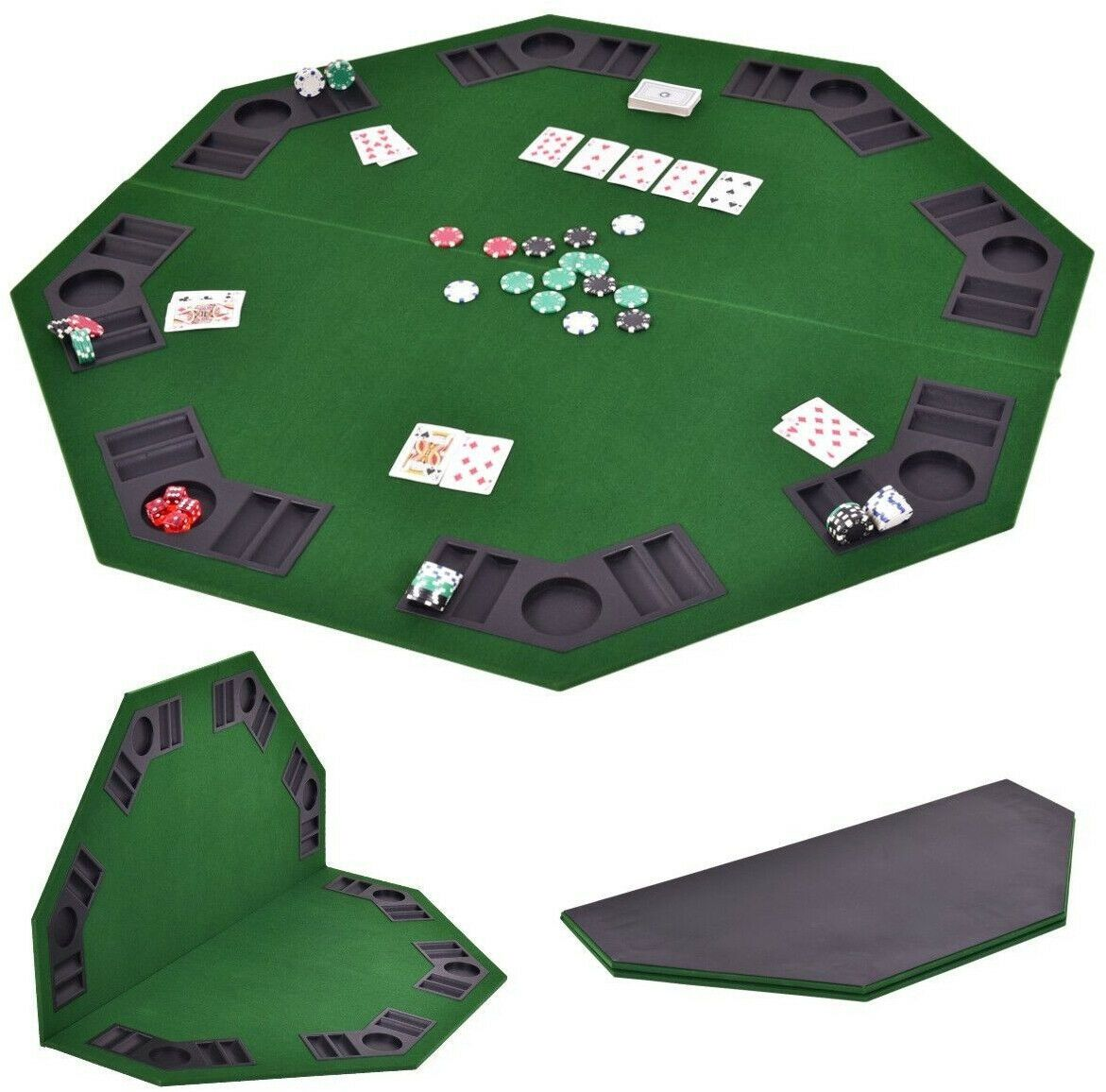 48 8 Players Octagon Foldable Poker Table Top Poker Table Top Folding Poker Table Poker Table